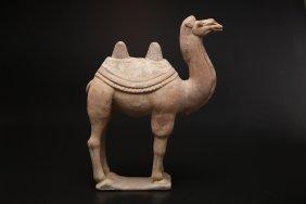 Arte Cinese Funerary Earthware Sculpture Depicting A