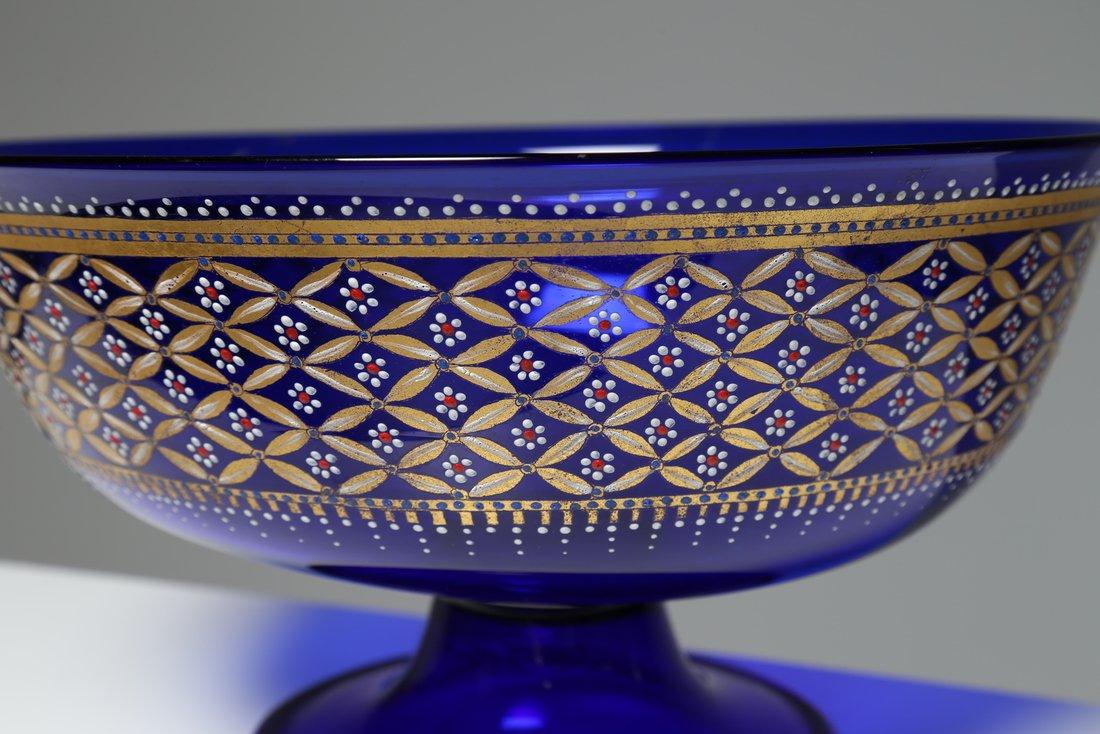 ERCOLE BAROVIER Coppa nuziale  in vetro blu cobalto - 2