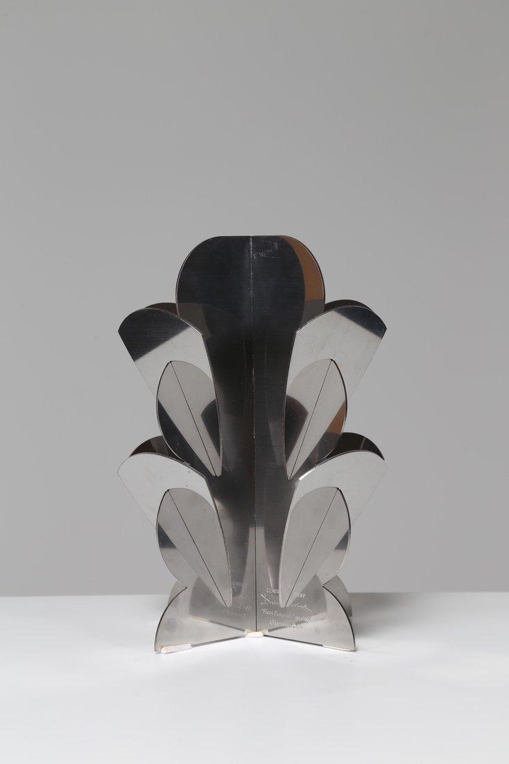 """DINO GAVINA Scultura, in acciaio """"Fiori futuristi†- 2"""