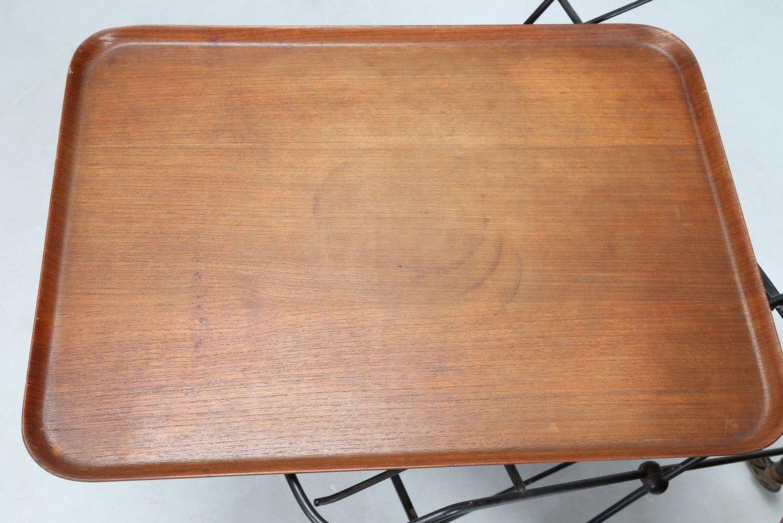 ISA BERGAMO  Carrello in legno di teak e tondino di - 4