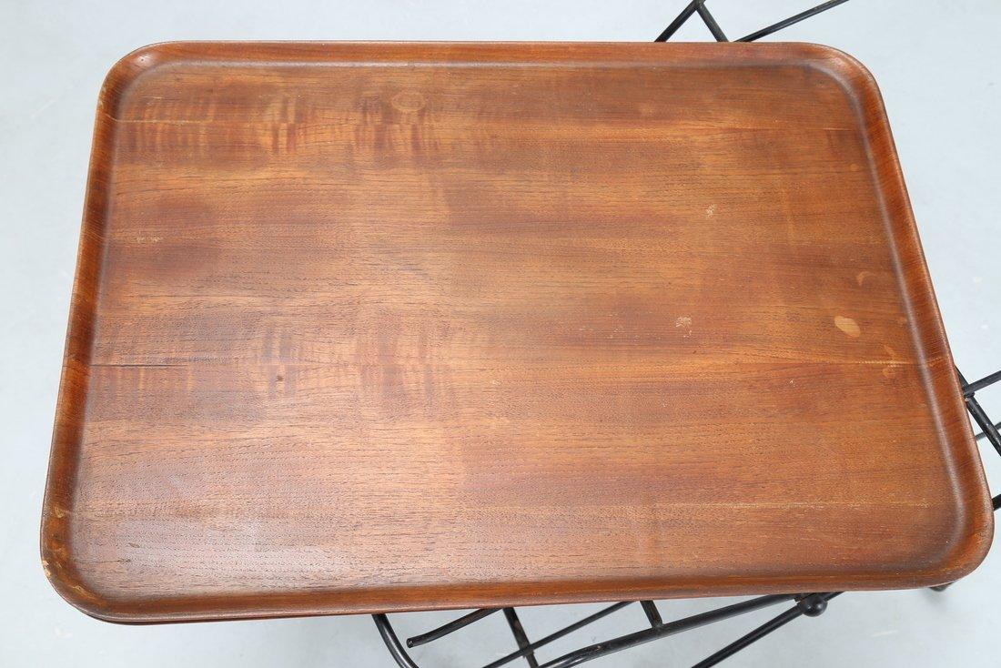 ISA BERGAMO  Carrello in legno di teak e tondino di - 5