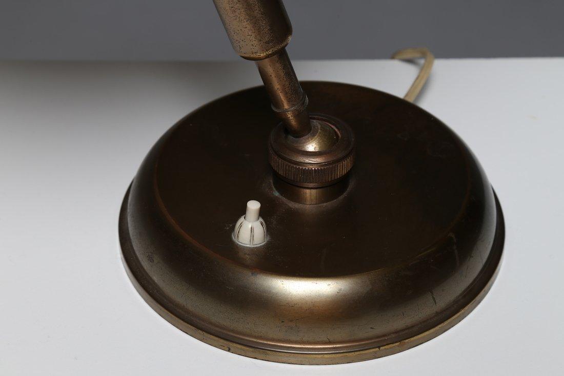 MANIFATTURA ITALIANA  lampada da tavolo in ottone, anni - 2