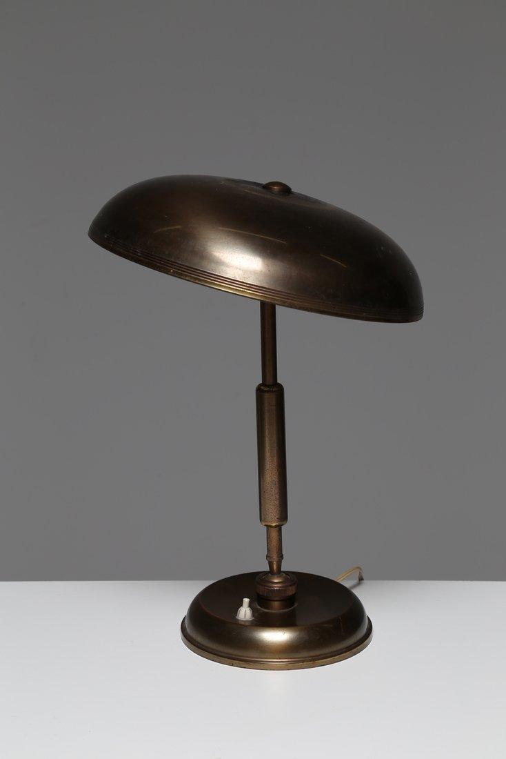 MANIFATTURA ITALIANA  lampada da tavolo in ottone, anni - 4