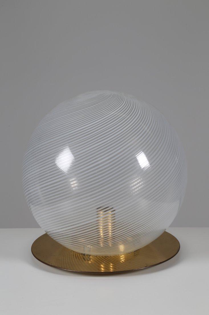 VENINI  Lampada da tavolo in ottone e vetro serie