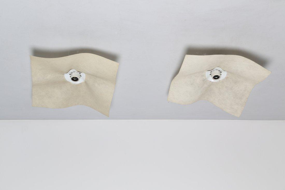 MARIO BELLINI Coppia di lampade da parete o soffitto in