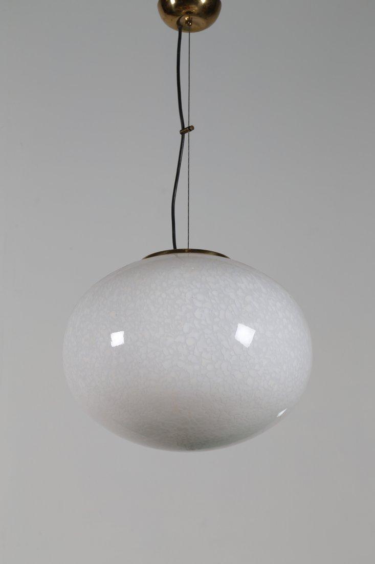 MANIFATTURA ITALIANA  Lampada a sospensione in ottone e