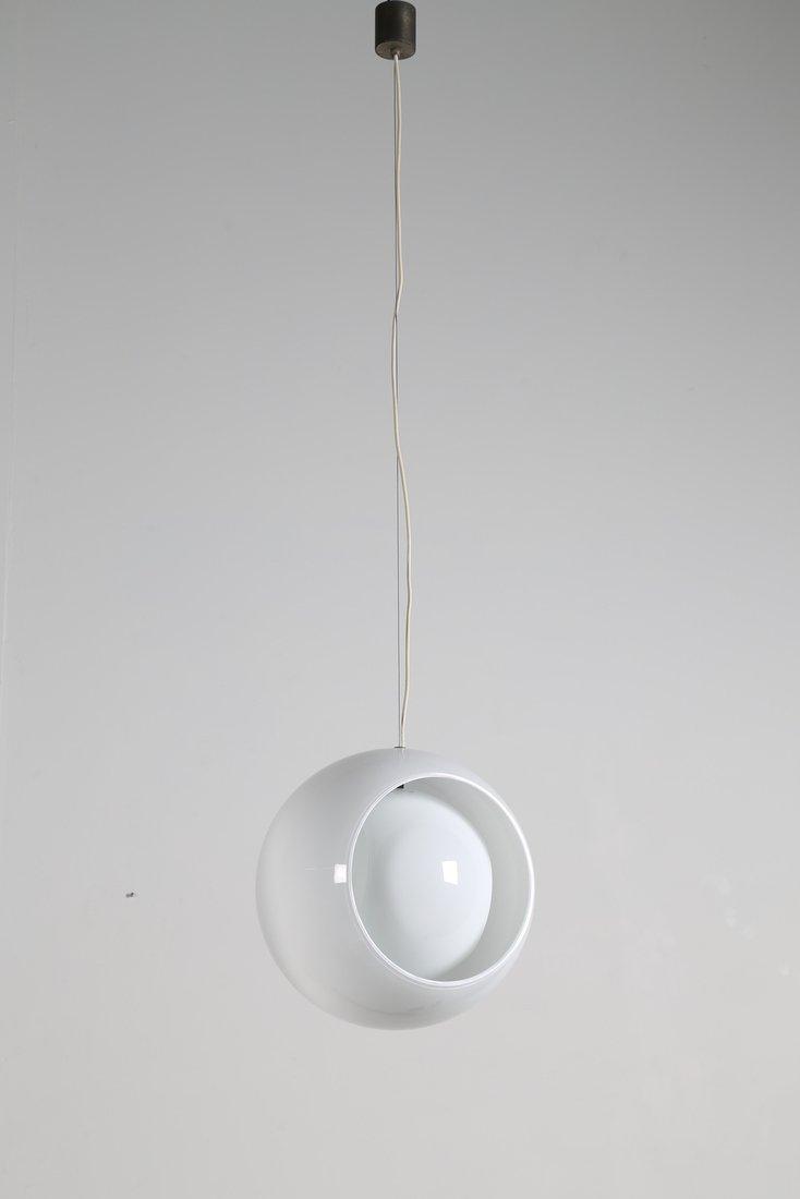 CARLO NASON Lampada a sospensione in vetro opalino, - 2