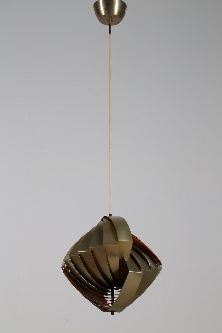 LOUIS  WEISDORF Rara lampada a sospensione in lamelle - 2
