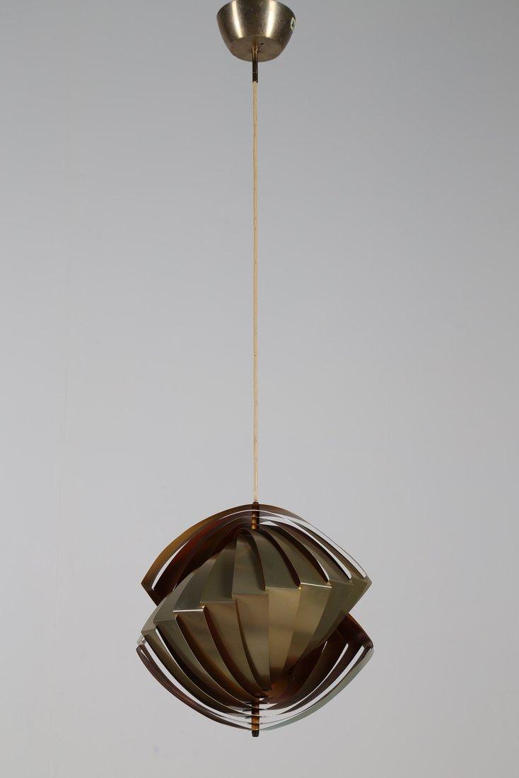 LOUIS  WEISDORF Rara lampada a sospensione in lamelle - 3