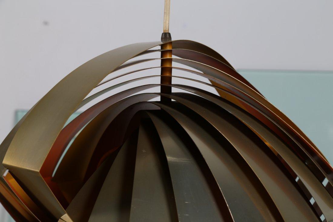 LOUIS  WEISDORF Rara lampada a sospensione in lamelle - 4