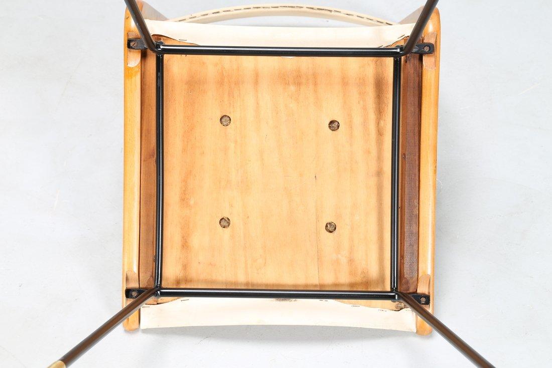 CARLO DE CARLI Attrib. Quattro sedie in metallo legno e - 4