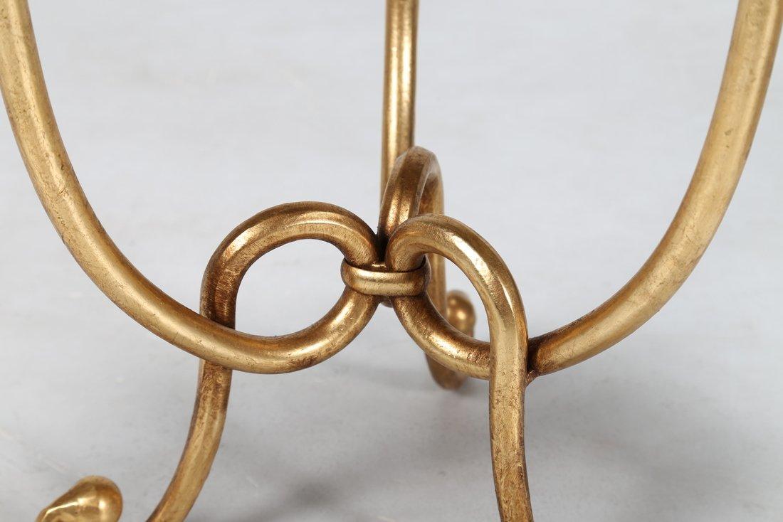 GIOVANNI BANCI Coppia sgabelli in metallo dorato e - 3