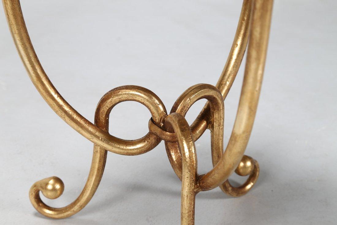 GIOVANNI BANCI Coppia sgabelli in metallo dorato e - 5