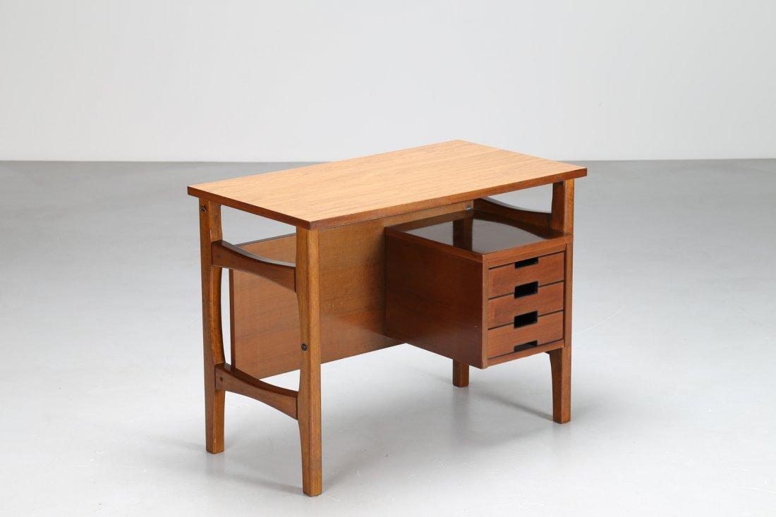 GIO' PONTI Scrittoio in legno, Prod. Schirolli,  anni