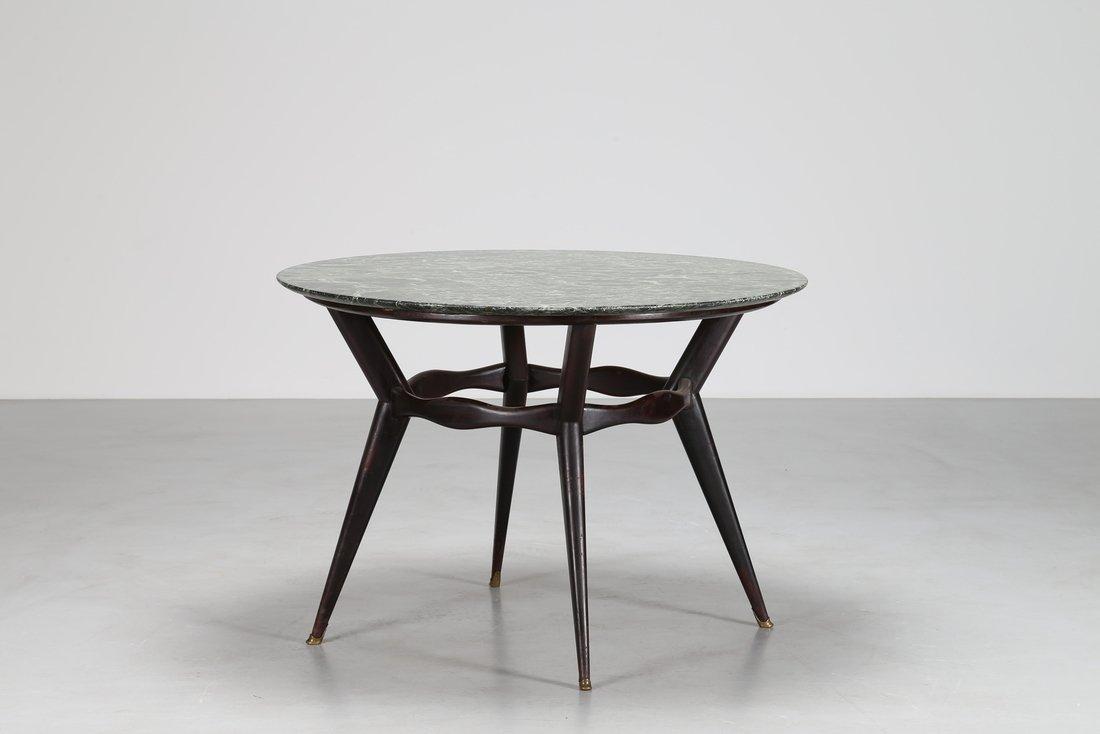 OSVALDO BORSANI Tavolo rotondo  in legno ebanizzato - 2