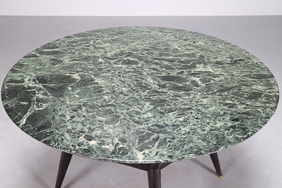 OSVALDO BORSANI Tavolo rotondo  in legno ebanizzato - 3