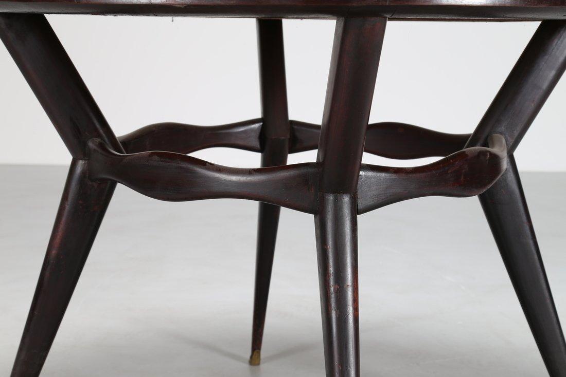 OSVALDO BORSANI Tavolo rotondo  in legno ebanizzato - 5