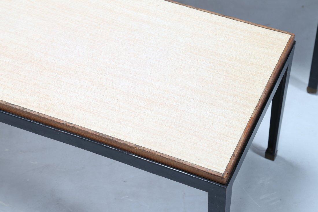 GASTONE RINALDI Tris di tavolini in metallo laccato e - 5