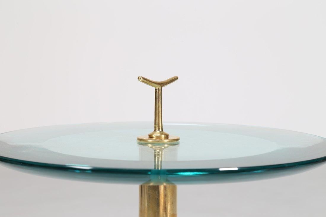 MANIFATTURA ITALIANA  Tavolino in ottone e vetro - 3