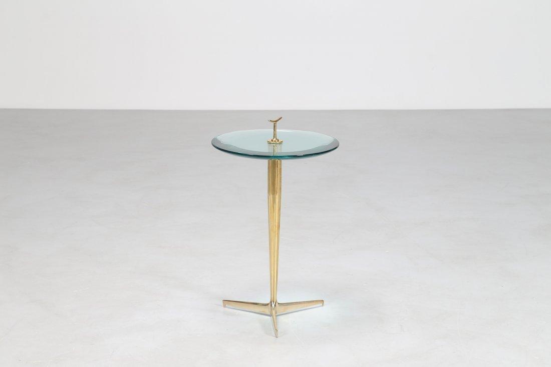 MANIFATTURA ITALIANA  Tavolino in ottone e vetro