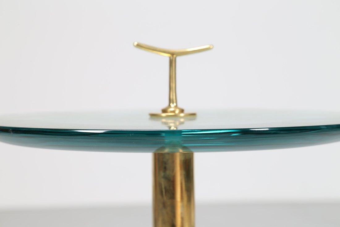 MANIFATTURA ITALIANA  Tavolino in ottone e vetro - 2