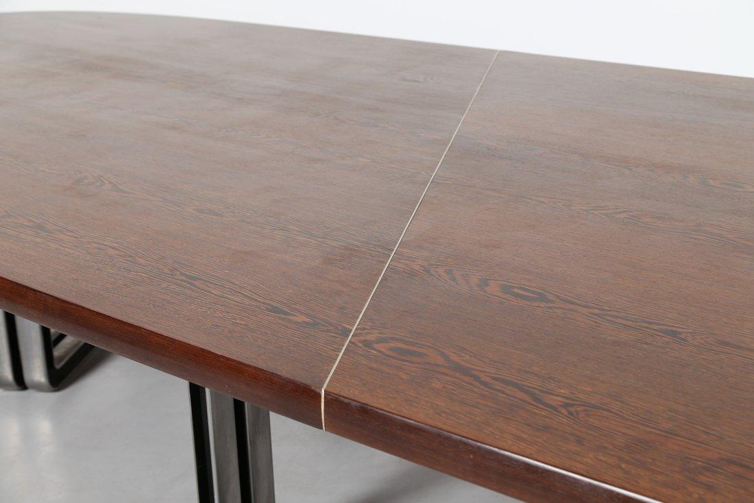 OSVALDO BORSANI Grande tavolo da riunione, formato da - 10