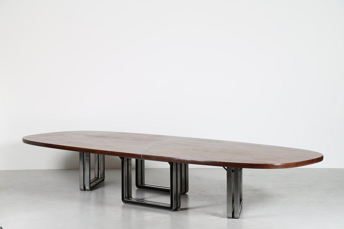 OSVALDO BORSANI Grande tavolo da riunione, formato da - 2