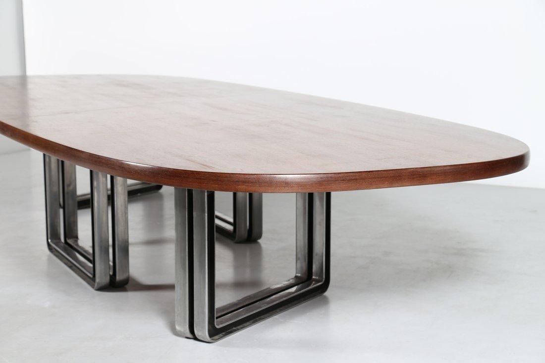 OSVALDO BORSANI Grande tavolo da riunione, formato da - 3