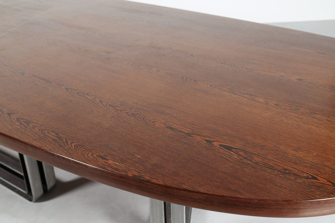 OSVALDO BORSANI Grande tavolo da riunione, formato da - 4