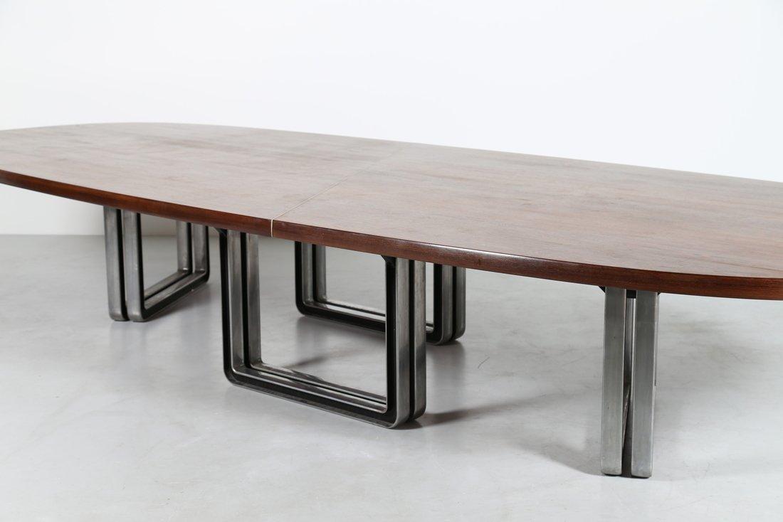 OSVALDO BORSANI Grande tavolo da riunione, formato da - 5
