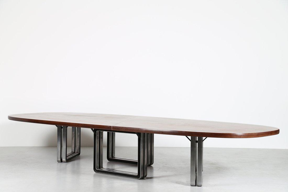 OSVALDO BORSANI Grande tavolo da riunione, formato da - 6