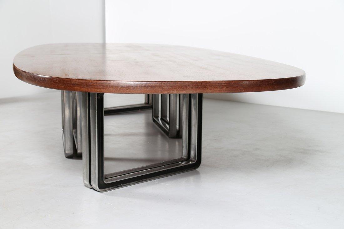 OSVALDO BORSANI Grande tavolo da riunione, formato da - 7