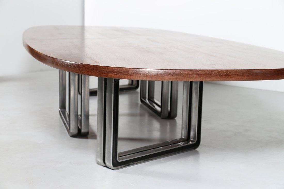 OSVALDO BORSANI Grande tavolo da riunione, formato da - 8