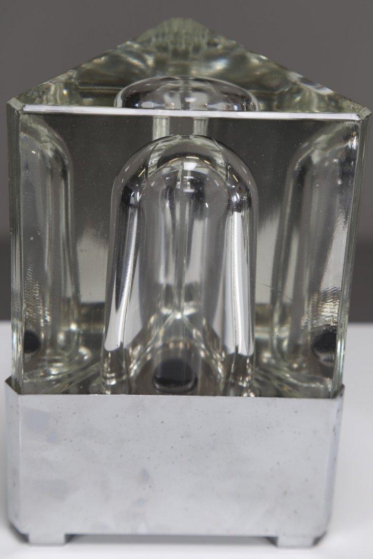 FIDENZA VETRARIA Coppia di lampade da tavolo in vetro - 2