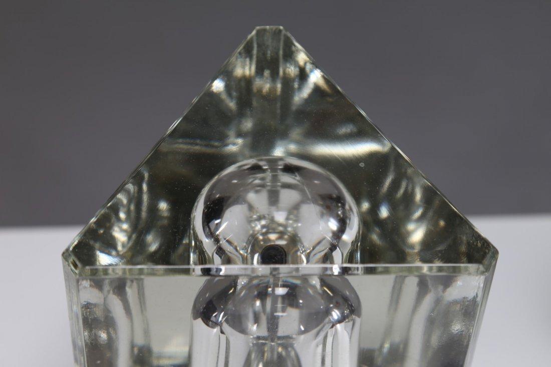 FIDENZA VETRARIA Coppia di lampade da tavolo in vetro - 3