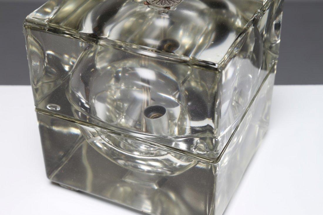 ALESSANDRO  MENDINI Lampada da tavolo in vetro massello - 3