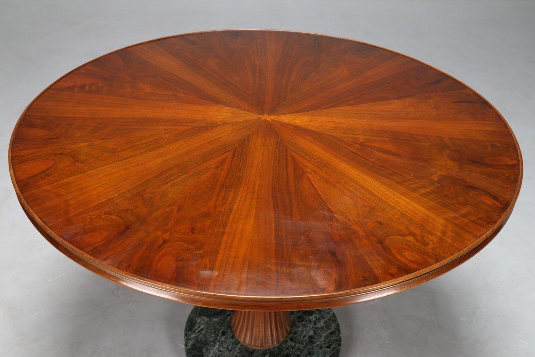 PAOLO BUFFA Tavolo rotondo in noce con base in  marmo - 2