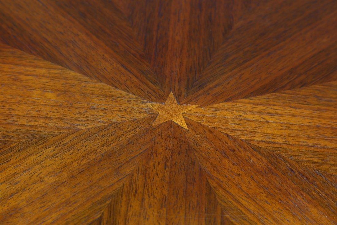 PAOLO BUFFA Tavolo rotondo in noce con base in  marmo - 3