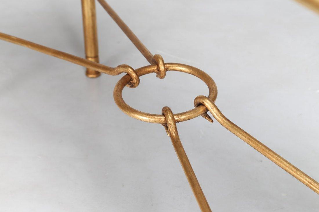GIOVANNI BANCI Consolle in ferro dorato con piano in - 4