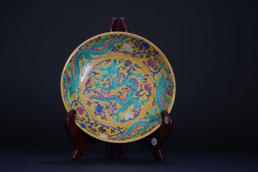ming dynasty dragon art work plate
