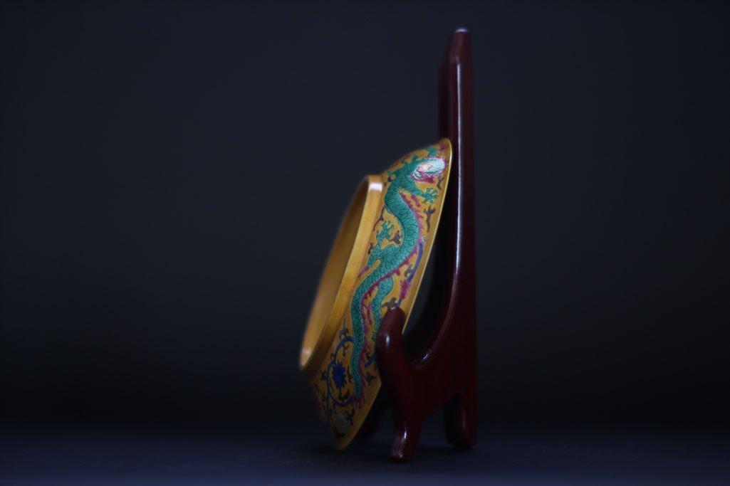 ming dynasty dragon art work plate - 3