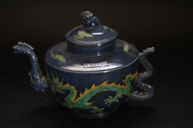 Antique Dragon Teapot