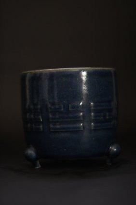 Antique Blue Wine Pot