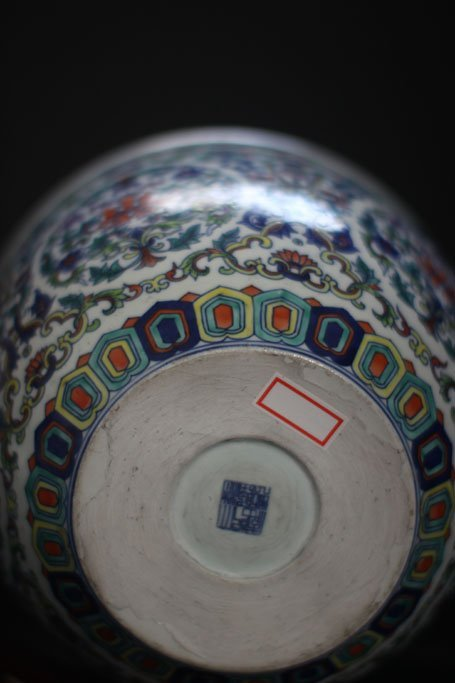 chinese antique jar with  beautiful garden painting - 3