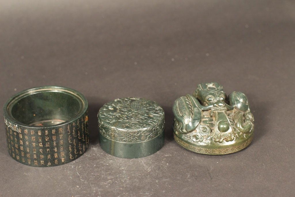 antique chinese box with kirin in the art work - 4