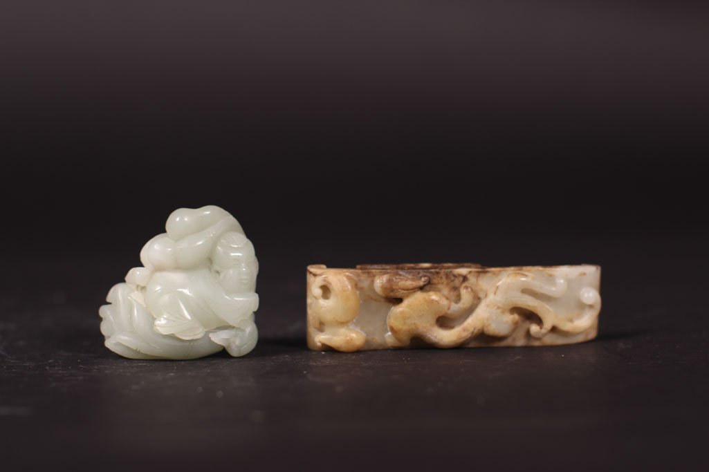 chinese antique unique shape  jade stone sculpture