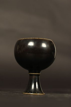 Ming Dynasty Glaze Single Color (black) Wine Cup