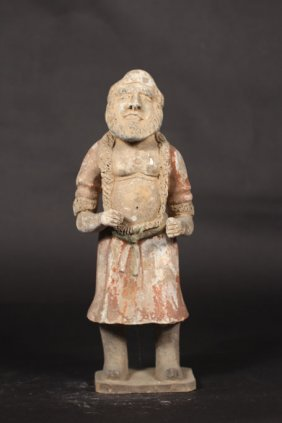 Chinese Antique Of Stone Sculpture Of Man