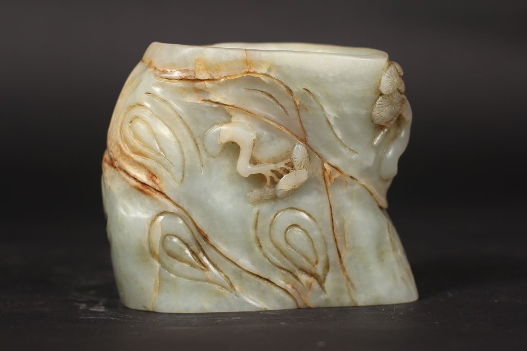 antique chinese jade sculpture of mountain - 3