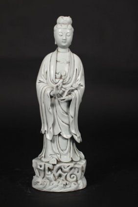 Porcelain Sculpture Of Standing Guanyin